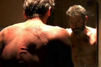 In foto Hugh Jackman nei panni di Wolverine per il film Wolverine 3