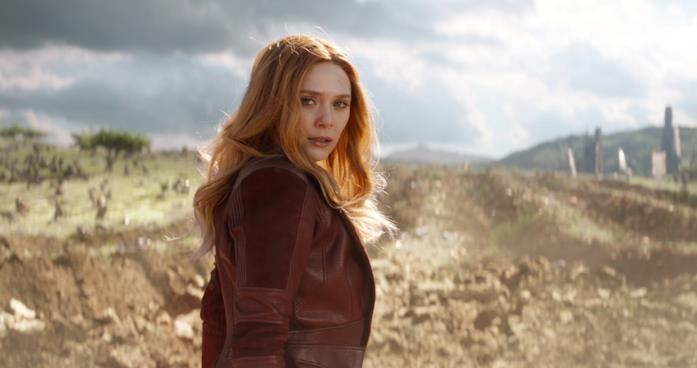 Elizabeth Olsen nei panni di Wanda Maximoff in Avengers: Infinity War