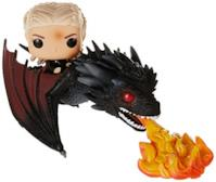 Funko- Pop Rides: Game of Thrones-Daenerys on Fiery Drogon Collectible Figure, Multicolore, 45338