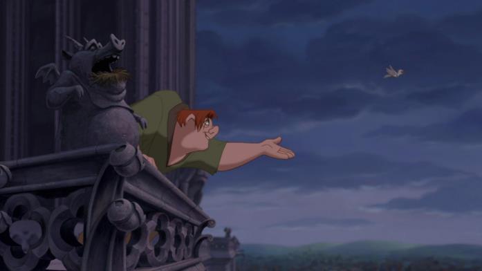 Un'immagine che ritrae Quasimodo, protagonista de Il gobbo di Notre Dame