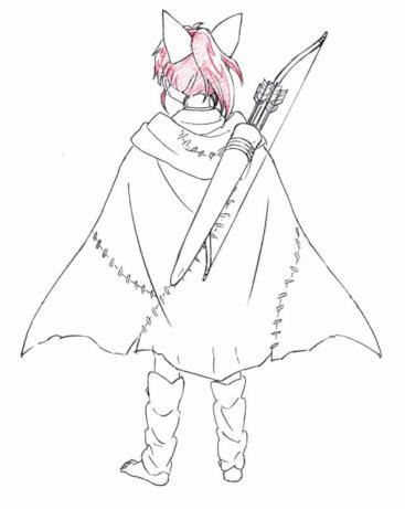 Il retro del costume di Moroha, la cacciatrice di demoni figlia di Inuyasha