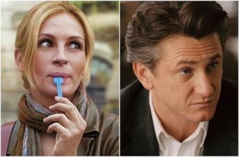Primi piani di Julia Roberts e Sean Penn