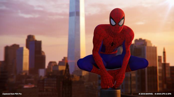 Screen in-game del nuovo costume di Marvel's Spider-Man per PS4