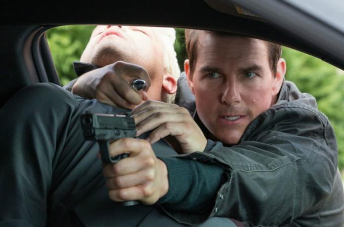 Un'immagine di Tom Cruise in Jack Reacher: Punto di non ritorno