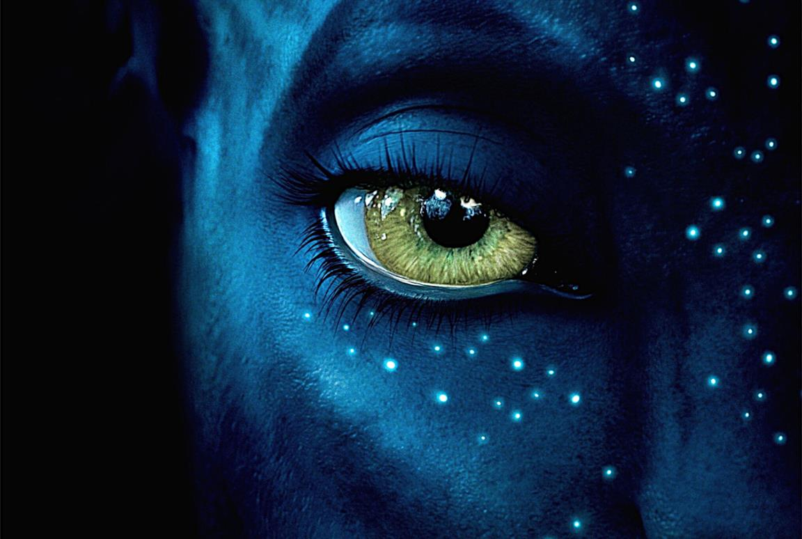 Il viso di Neytiri da Avatar