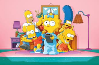 La famiglia Simpson in uno dei poster promozionali della serie