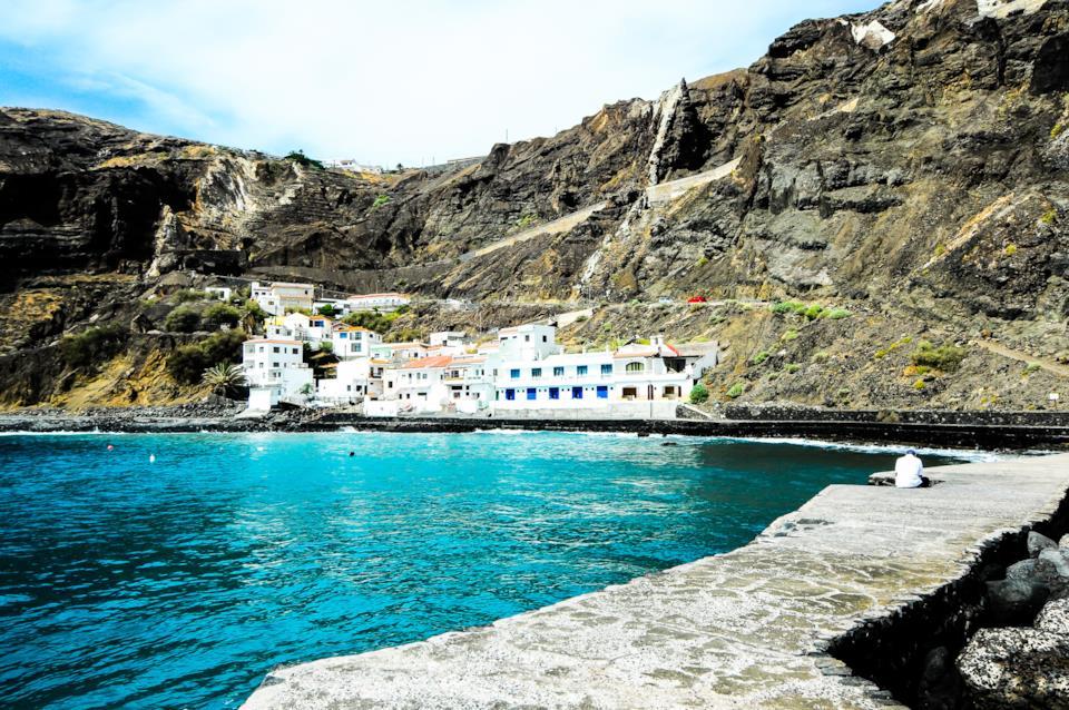 Veduta del porto dell Gomera alle isole Canarie
