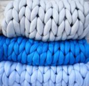 Coperta di lana merino fatta a mano