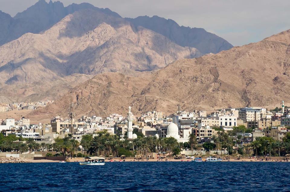 Costa di Aqaba in Giordania
