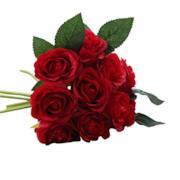 Rose artificiali per decorazioni natalizie