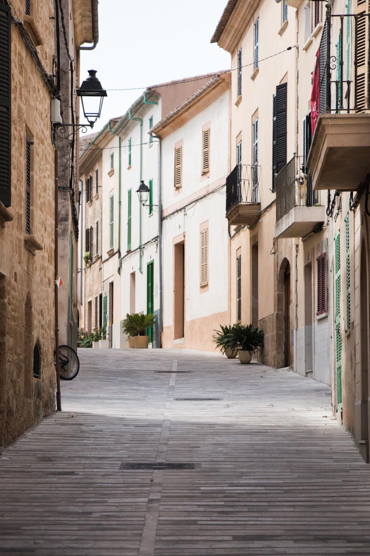 Strada di Alcudia a Maiorca