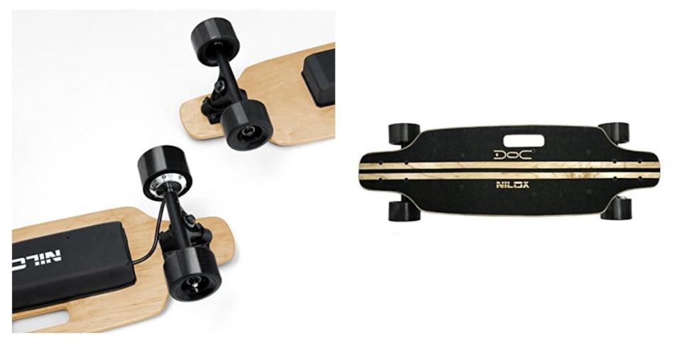 Skateboard elettrico Nilox Plus nero e legno in offerta