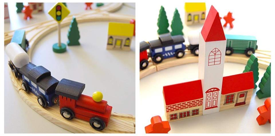 Trenino di legno da regalare a Natale