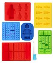 Set da 7 Pezzi Stampo Forma di Silicone per Cubetti di Ghiaccio