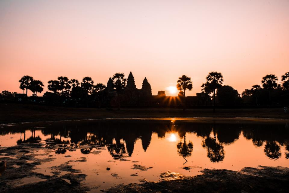 Vista di Angkor in Cambogia