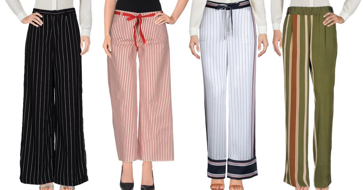 Pantaloni palazzo a righe i modelli più cool