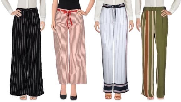 La TOP10 dei pantaloni a palazzo con le righe