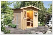 Sauna finlandese da giardino esterno
