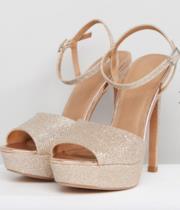 Sandali con plateau e tacco