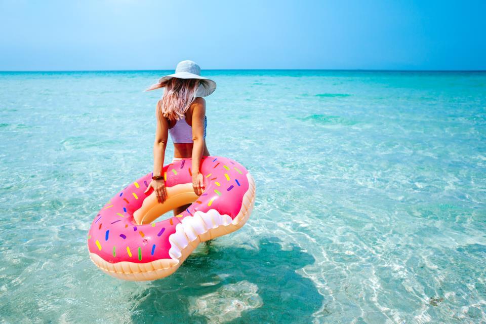 Ciambelle gonfiabili per l'estate da mare o da piscina