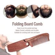 Mini Pettine per capelli in legno pieghevole