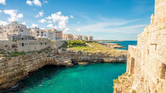 Veduta di Otranto in Salento, Puglia