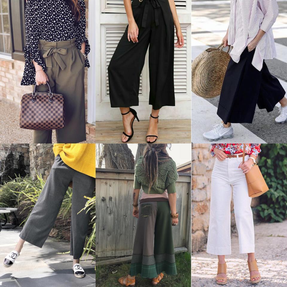Pantaloni a palazzo corti da donna