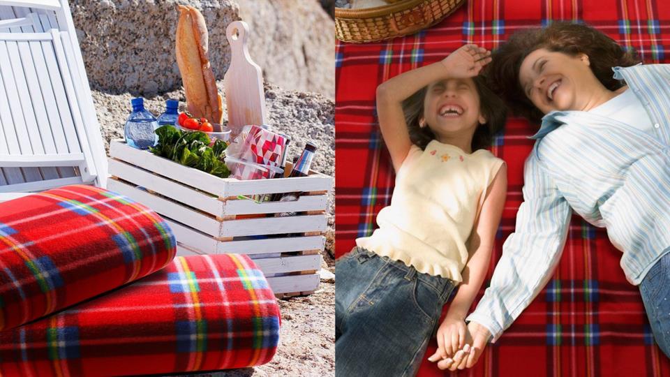 Il classico plaid a qudrettoni per picnic