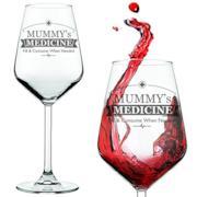 Calice da vino con scritta