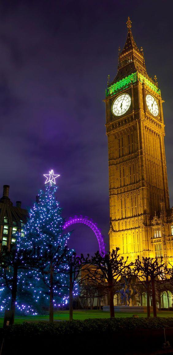 Albero di Natale blu di Londra