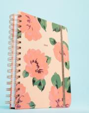 Planner medio con calendario annuale 2019 e rose