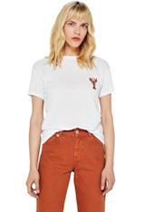 T-Shirt con applicazione in paillettes