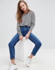 Mom jeans slim a vita alta