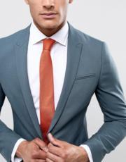 Cravatta slim in seta rossa