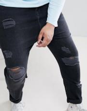 Jeans a cavallo basso super strappati