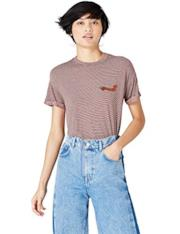 T-Shirt a righe con applicazione