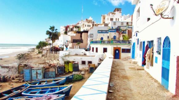 Spiaggia di Agadir in Marocco