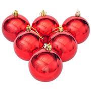 6 Pezzi IPalline Di Natale, Rosso