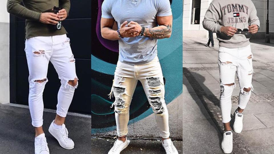 Come abbinare i jeans strappati da uomo
