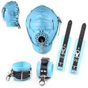 Completo bondage azzurro