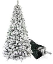 Albero di Natale innevato