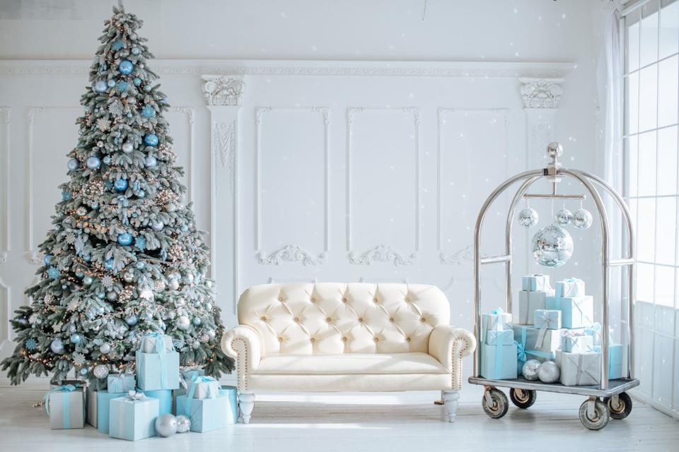 Casa natalizia in blu