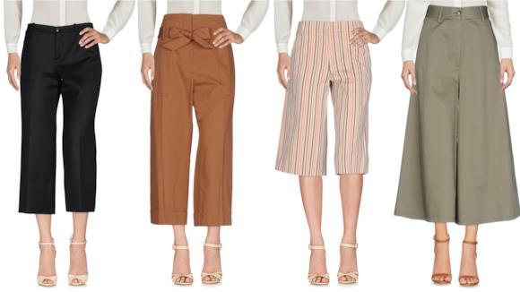 Pantaloni a palazzo corti da donna per l'estate 2018