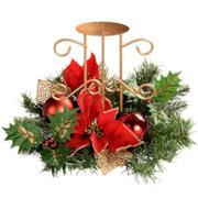 Centrotavola natalizio con porta candela