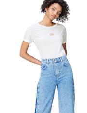 T-Shirt bianca con ricamo