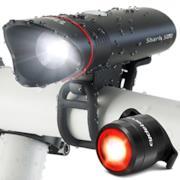kit luci per bicicletta ricaricabile con USB