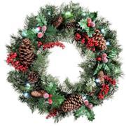Ghirlanda natalizia decorativa, con pigne e bacche