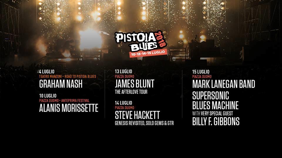 Pistoia Blues Festival 2018 lineup
