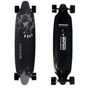 Skateboard Elettrico Longboard con Telecomando Senza Fili (Leopardo)