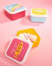 Confezione da 3 contenitori per snack